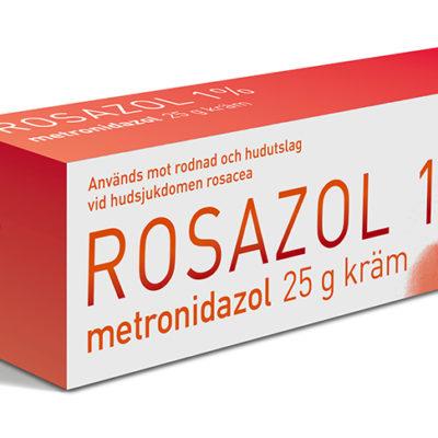 Rosazol förpackning 25 g kräm